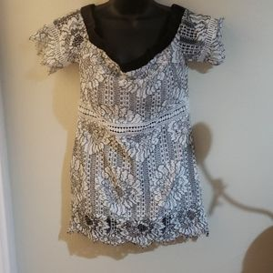 off the shoulder top or short-person dress
